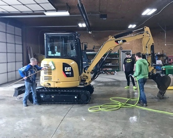 Maintaining equipment at the city of Butler's maintenance department